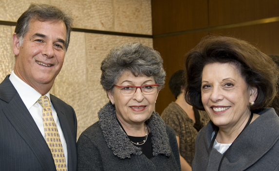 L-R: Marshall S. Levin, Executive Vice President and CEO; Prof. Varda Rotter; Ellen Merlo, Chair, New York Region Executive Committee.