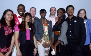 The SMART Team at Hostos-Lincoln Academy. From left to right: Daviana Dueño, Bobby Glover, Marisa VanBrakle, Prof. Joel L. Sussman, Alafia Henry, Dr. Lars Westblade, Mary Acheampong, Randol Mata, and Ms. Allison Granberry.