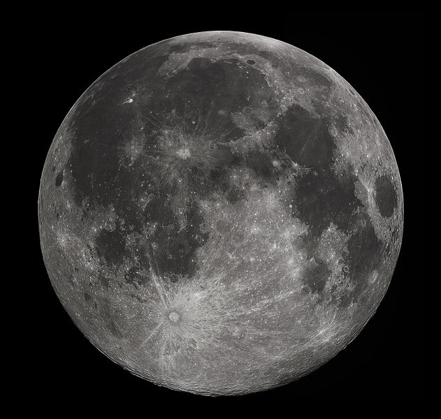 Why do we see the the man in the moon?