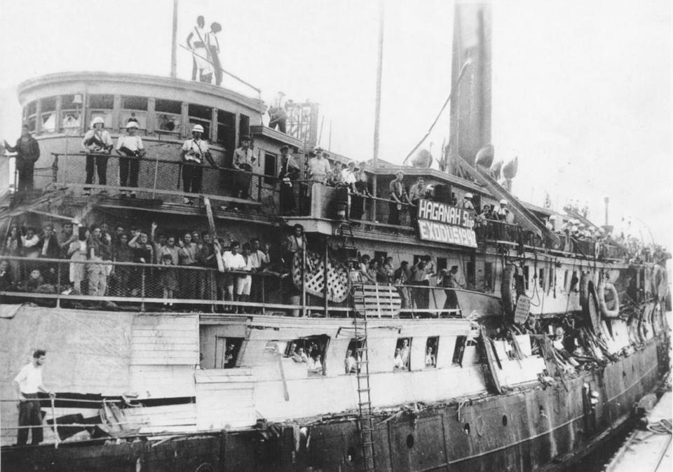 Jewish refugees pack the ship Exodus in 1947 in a futile effort to reach British-controlled Palestine.