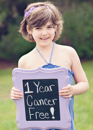 Emily Whitehead , 8, celebrates a year of remission after cancer therapy at Children's.