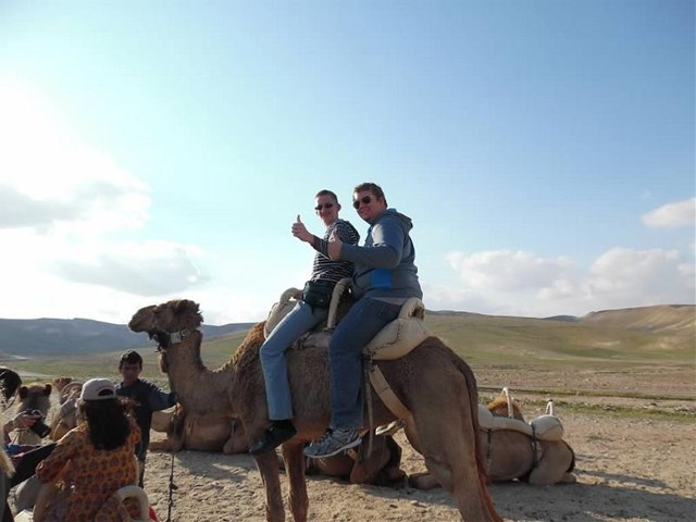Rancho High School students rode camels in the Negev desert.