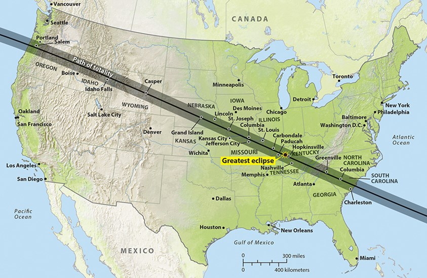 Solar eclipse path